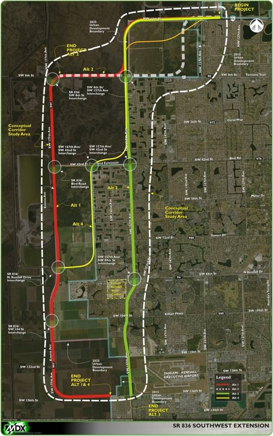 SR-836-Southwest-1-Kendall-Extension-map